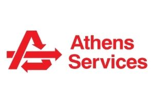 Athens Logo Red with White